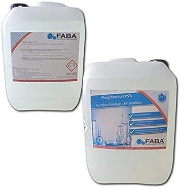 Phosphorsäure 85 H3po4 Rostumwandler Kalklöser Urinsteinlöser 2x5 L Im Kaister Drogerie Körperpflege