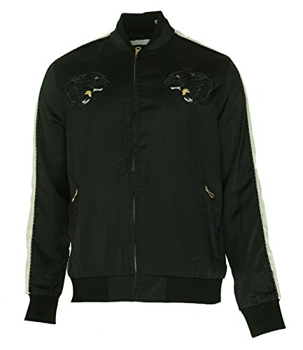 Sean John Deep Mens Satin Souvenir Bomber Jacket