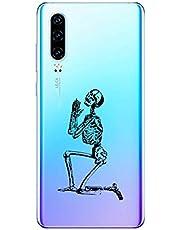 Oihxse Funda Huawei Nova 4, Ultra Delgado Transparente TPU Silicona Case Suave Claro Elegante Creativa Patrón Bumper Carcasa Anti-Arañazos Anti-Choque Protección Caso Cover (A9)