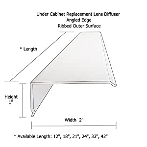 24 Quot Lens Diffuser Under Cabinet Replacement Cover Narrow L
