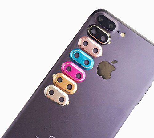 IPhone 7 Plus Camera Lens Protector BKING BOX 6 X Set Black Rose Gold Silver Blue Red Smartphone Guard Protective Case Cover Ring