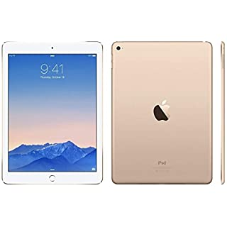 Apple iPad Air 2 MH1J2LL/A (128GB, Wi-Fi, Gold) NEWEST VERSION (Renewed)