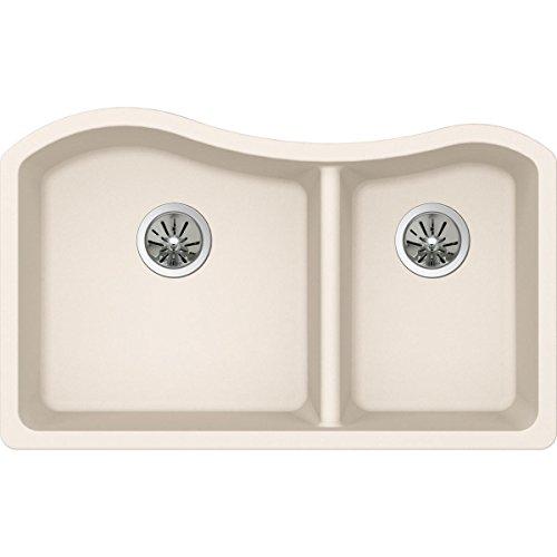 Elkay Quartz Luxe ELXHU3220RPA0 Parchment 60/40 Double Bowl Undermount Sink