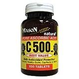 Mason Natural Vitamin C 500 Mg Pure Ascorbic Acid Tablets – 250 Ea