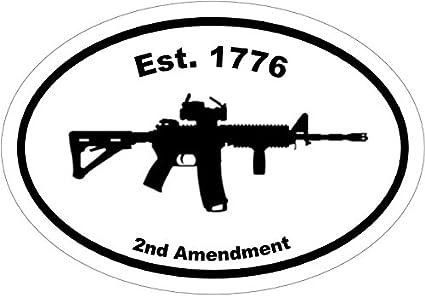 Vinyl Green 5.56 Ar15 Decal 2nd Amendment Gifts WickedGoodz Ar-15 Bumper Sticker