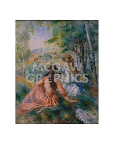In the Meadow - Poster by Pierre-Auguste Renoir (11 x 14)