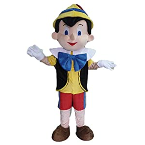 Boys Wooden Puppet Pinnochio Book Day Week Halloween Fancy Dress Costume Outfit