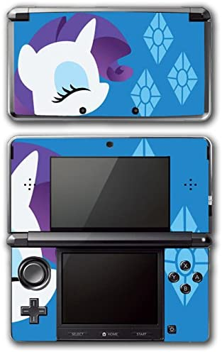 My Little Pony Friendship is Magic MLP Rarity Unicorn Cutie Mark Video Game Vinyl Decal Skin Sticker Cover for Original Nintendo 3DS System