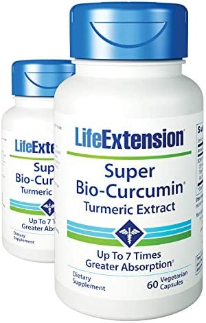 Life Extension Super Bio-Curcumin 400 mg 60 Vegetarian Capsules 2 Pack