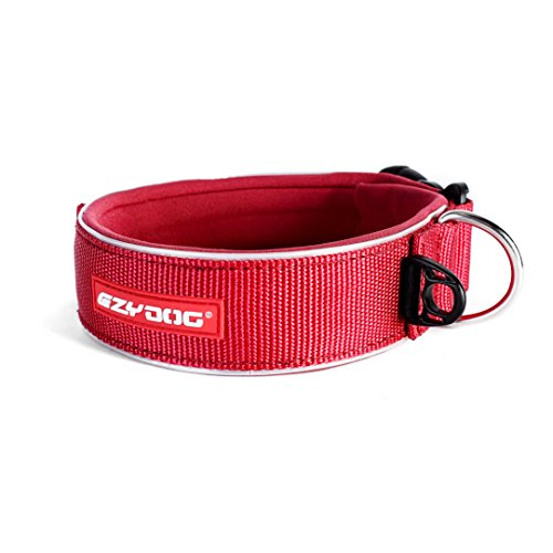 EzyDog Neo Classic Wide Dog Collar, Red, - Sizing Wetsuit Chart