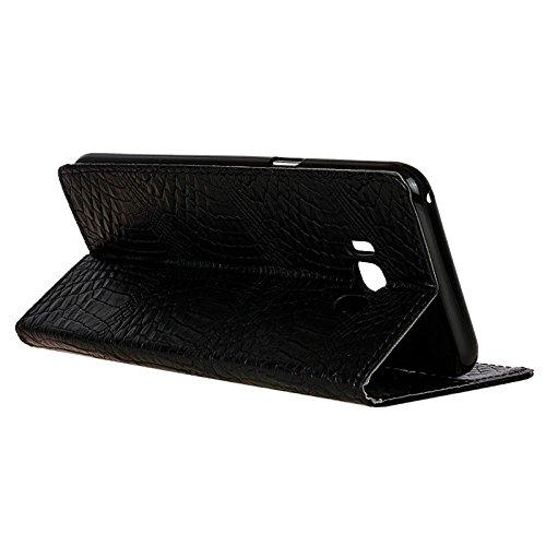 Carcasas y fundas Móviles, Para la caja de la galaxia S8 Plus de Samsung, diseño creativo de la textura del cocodrilo caja de cuero de la PU de la carpeta del tirón del diseño para Samsung Galaxy S8 m Black