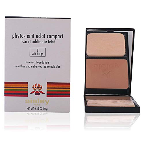 Sisley Phyto Teint Eclat Compact Foundation No. 2 Soft Beige for Women, 0.35 Ounce