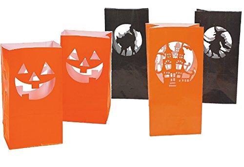 Halloween Luminary Bags (Value Pack of 24 Luminary Lantern Bags - Halloween Decoration)