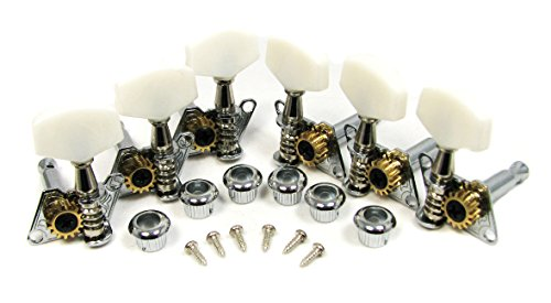 Chrome Open-gear Guitar Tuners/Machine Heads - 6-piece 3 Left / 3 Right Alignment ()