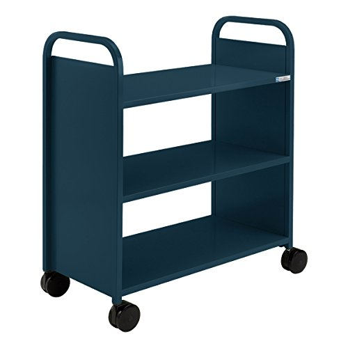 Smith System - Flat Shelf Book Truck w/ Three Shelves (36