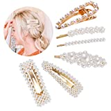 Pearl Hair Clips for Women Girls, Elegant Fashion Sweet Bridal Wedding Bridesmaids Hair Accessories, with Best Gift - 6Pcs