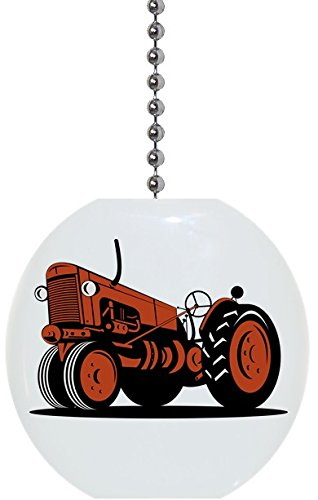 Orange Vintage Tractor Solid Ceramic Fan ()
