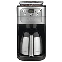 CUISINART DGB-900MTWBIHR Refurbished Automatic Burr Grind & Brew Thermal TM 12 Cup Coffeemaker, Silver