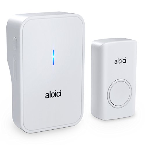 Wireless Doorbell, 1 [Self-Powered] Push Button and 1 Plug-in Receiver, Waterproof Chime Kit with 58 Chimes & 4 Level Volume LED Flash [ White, No Battery Required, 2018 Upgraded ] by aloici (Image #7)