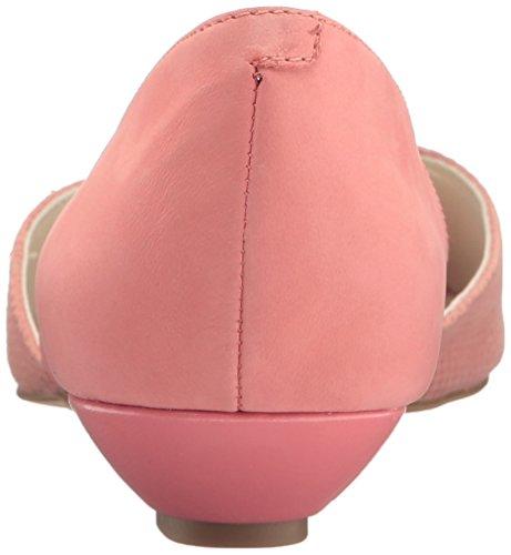 Women's Coral Klein Medium Pink Nubuck Anne Flat Fanetta Ballet Hxg5vgCwq