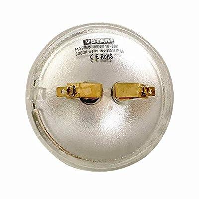 VSTAR PAR36 LED Bulb 15W 10-30V DC 5000K Daylight,With Lenses,High Concentration,Super Bright LED Bulb,Multipurpose Tractor Light