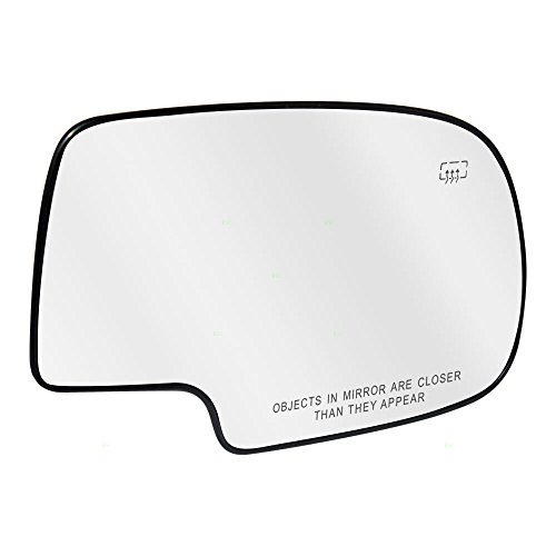- Passengers Power Side View Mirror Glass and Base Heated Replacement for Chevrolet Cadillac GMC Pickup Truck SUV 88986363