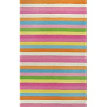 KAS Oriental Rugs Kidding Around Collection Chic Stripes Area Rug, ...