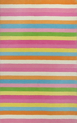 (KAS Oriental Rugs Kidding Around Collection Chic Stripes Area Rug, 2' x 3')