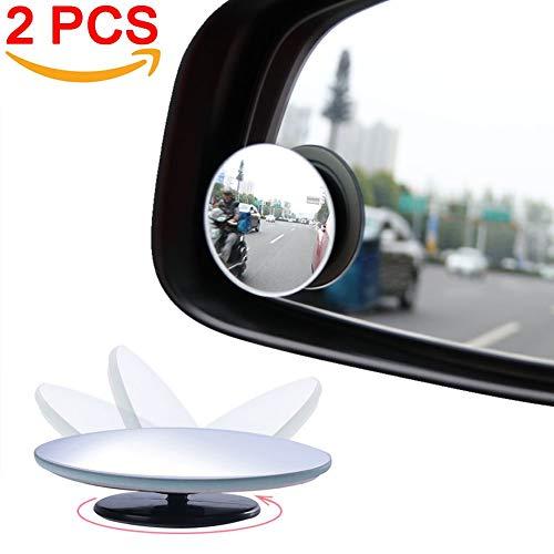 XBRN Blind Spot Mirror Round HD Glass Convex Lens Frameless Adjustable Blind Spot Mirror for All Car Stick-on Design - 2 -