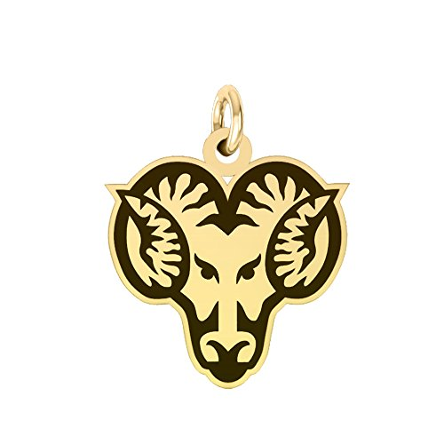 West Chester Golden Rams 14k Yellow Gold Cut Out Logo College Charm by College Jewelry