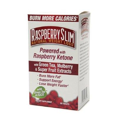 Framboise Slim comprimés de perte de poids naturel 60 comprimés avec du thé vert, Mulberry et Extraits Super Fruit