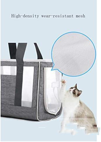 Draagtas voor huisdieren, ademend en koel, slijtvast mesh met hoge dichtheid, zijopeningen, comfortabele en dikke bodemplaat, dierenveiligheidstouw, licht en handig, geschikt voor