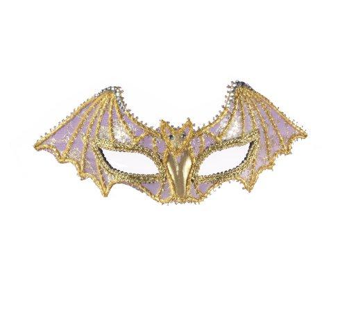 Gold Bat Mask (Forum Mardi Gras Venetian Bat Half Mask, Gold, One Size)