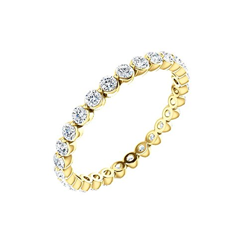 14k Yellow Gold 3/4 CTW Diamond Eternity Band Size 5.5 , 14kt Yellow gold, Ring Size 5.5 ()