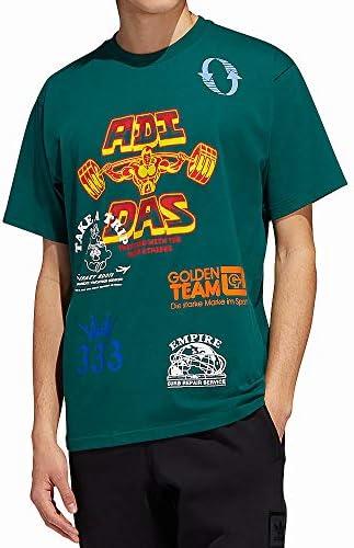 adidas T-Shirt Uomo Con stampe 'T-Shirt Test Print Colore Verde. Modello EC7370GREEN/MULTCO