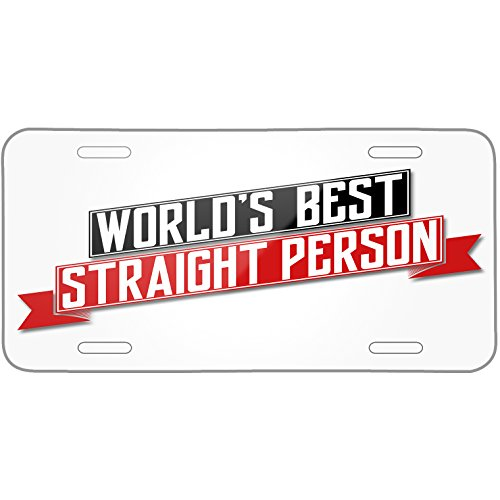 Neonblond Worlds Best Straight Person Metal License Plate -  plate-01-145058