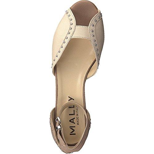 Mally - Tira de tobillo Mujer Beige