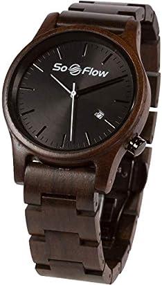SoFlow Exotic Wood Grain Watches for Men & Women - Sandlewood Wooden Wrist Watch - Natural - Handmade - Gift - Quartz