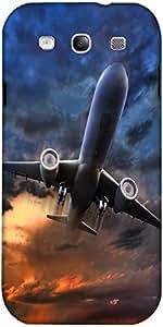 Snoogg Avión Despegue Ilustración Diseñador Protectora Volver Funda Para El S...