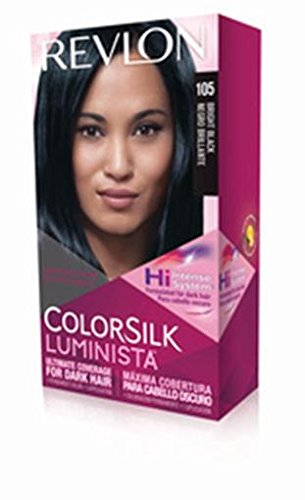 Revlon Colorsilk Luminista Haircolor, Bright Black, 1 Count