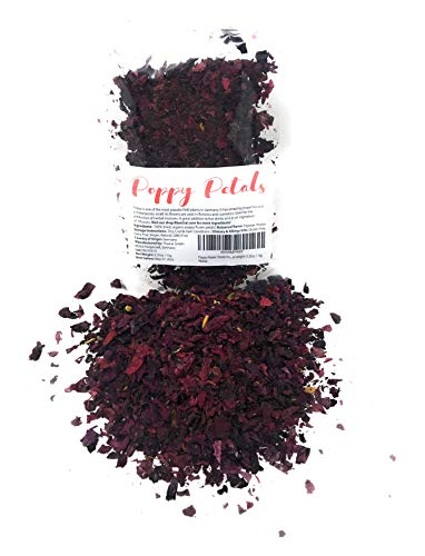 - Poppy Flower Petals from Germany - 100% Organic& Natural | Pure, edible flowers | Perfect addition to any salad, snack or smoothie bowl | Net weight: 0.35oz / 10g