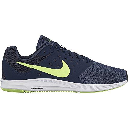 des chaussures nike downshifter 7 bleu hommes tonnerre bleu 7 / volt glow / obsidian / noir taille 14 m 873358