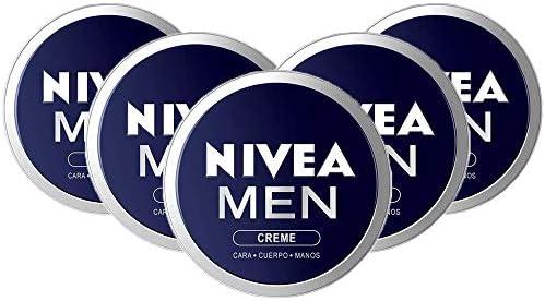 NIVEA MEN Creme en pack de 5 (5 x 150 ml), crema para hombres, crema para cara, cuerpo y manos, crema multiusos hidratante para el cuidado de la piel masculina: Amazon.es: Belleza