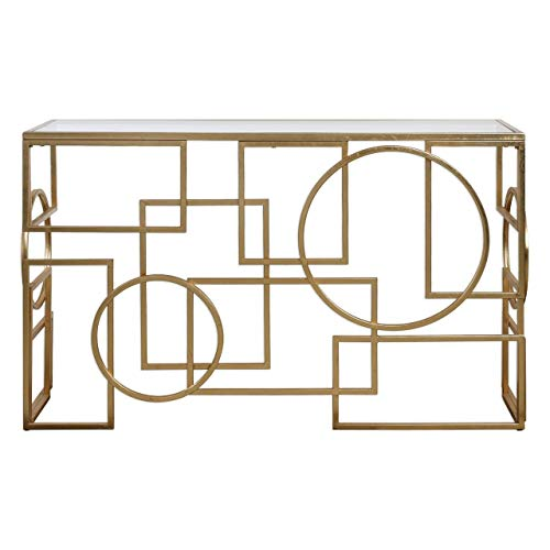 Uttermost Iron Console Table in Gold Finish