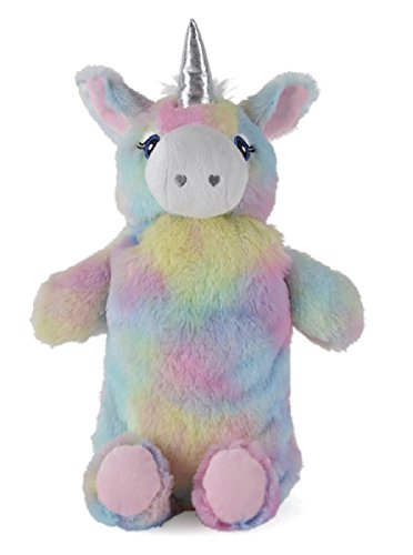 Rainbow Coloured Plush Unicorn Hot Water Bottle by Slumberzzz