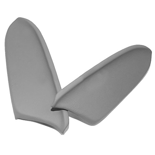 Driver Front Door Panel - QKPARTS Fits 08-12 Honda Accord Real Leather Front Door Panels Armrest Covers...