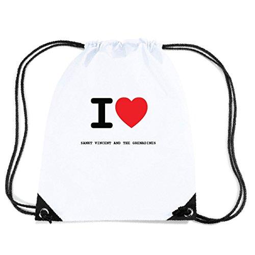 JOllify SANKT VINCENT AND THE GRENADINES Turnbeutel Tasche GYM4936 Design: I love - Ich liebe