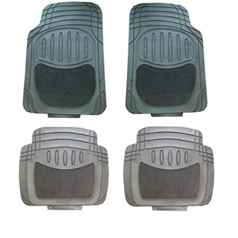WheelsNBits/® 015 Mud Mat Rubber pvc Extra heavy duty car mats 4pcs Can Be Trimmed to fit