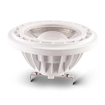 10 W G53 AR111 12 V Bombilla LED FOCO sustituye a bombilla de 60 W, 800 lm, blanco cálido 3000 K ángulo 45 ° grados: Amazon.es: Iluminación