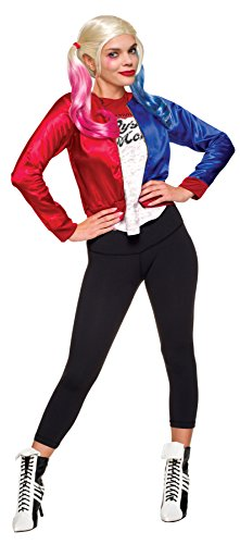 [UHC Women's Suicide Squad Harley Quinn Kit Outfit Fancy Dress Halloween Costume, M (8-10)] (New Harley Quinn Costumes)